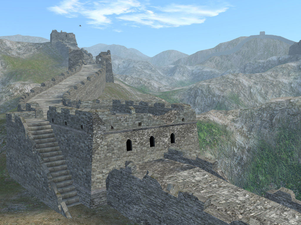 The Great Wall of China is featured in Uncharted Waters Online, 2005 (Koei Tecmo, OGPlanet) Image Source: http://uwo.ogplanet.com/en/download/multimedia.og